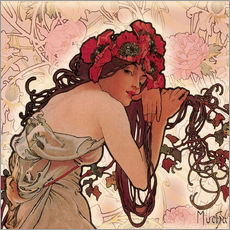 Wall sticker  The Four Seasons - Spring in detail - Alfons Mucha