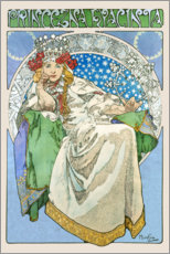 Wall sticker  Princess Hyacinth - Alfons Mucha
