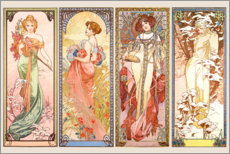 Wall Stickers  The Four Seasons - Alfons Mucha
