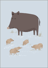 Wall Stickers  wild boar - Sandy Lohß