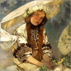 Wall Stickers  Madonna of the Lilies, Detail - Alfons Mucha