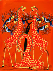 Wall Stickers  Yellow Giraffe Trio - Rafiki
