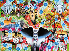 Gallery print  Colorful collage of Africa - Zuberi