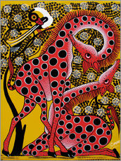Gallery print  Giraffes in Love Ritual - Omary
