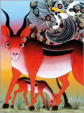 Gallery print  Antelope with child - Mustapha