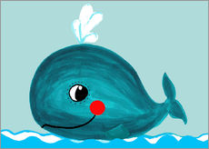 Gallery print  Willow, the friendly whale - Little Miss Arty