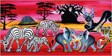 Wall Sticker  Animals in the evening in the savannah - Chiwaya