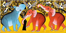 Wall Sticker  Elephant dancing with the hippopotamus - Mangula