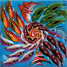 Gallery print  Colorful fish vertebrae - Mrope