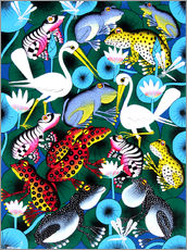 Gallery print  Frogs and cranes - Abdallah
