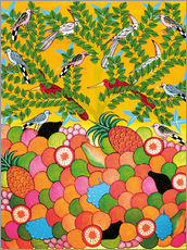 Wall sticker  Fruits and birds - Majidu