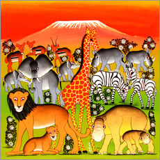 Gallery print  Animals of Mount Kilimanjaro - Adams