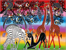Gallery print  Multicultural herd - Chiwaya