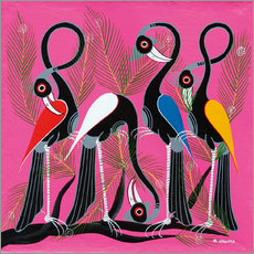 Gallery print  Crane Group on a branch - Chiwaya