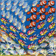 Gallery print  Fish in the triangle - Majidu