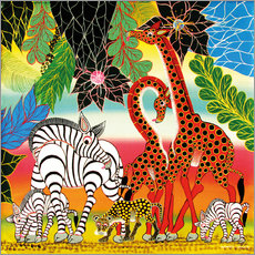 Wall Sticker  African animals in the jungle - Chiwaya