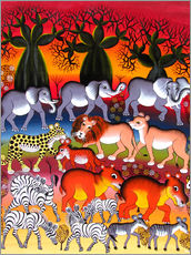 Wall sticker  Herd in the evening - Abdallah