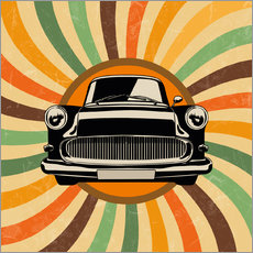 Wall sticker Retro car oldtimer