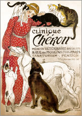 Wall sticker  Clinique Cheron - Théophile-Alexandre Steinlen
