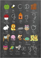 Learn abc on chalkboard