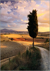 Sunset over Val d'Orcia, Tuscany
