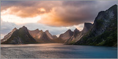 Lofoten Evening Atmosphere, Moskenes, Reine, Norway