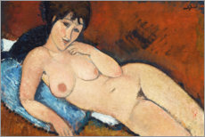 Nude on a Blue Cushion, 1917
