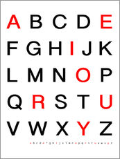 Alphabet Black Red