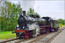 Old Steam Locomotive in the Black Forest