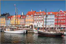 Old Port Nyhavn in Copenhagen (Denmark)