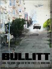 alternative bullitt retro movie poster