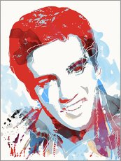 alternative elvis presley pop art print