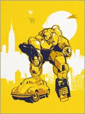 alternative bumblebee retro transformers art
