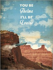 alternative thelma and louise retro movie poster
