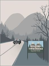 Alternative welcome to twin peaks art print