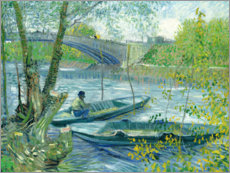 Angler and boat at the Pont de Clichy