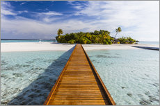 Jetty to tropical island, Maldives