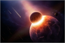 Planet earth destroyed in collision with asteroid