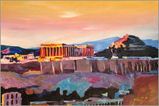 Athens Greece Acropolis At Sunset