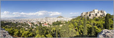 Athens panorama with skyline and acropolis
