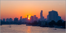 Bangkok skyline at sunrise, Thailand