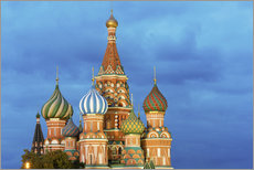 St. Basil's Cathedral lit up at night