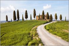 Farmhouse with cypresses in Tuscany