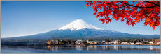 Mount Fuji and Lake Kawaguchiko in autumn