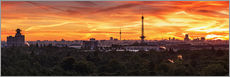 Berlin Skyline Sunset - Panorama