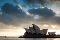 Famous Sydney Opera House at sunrise, Australia