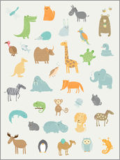 Visit the Zoo all the animals for the nursery