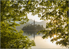Bled in the morning, Slovenia