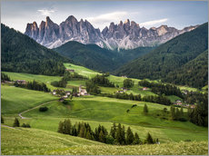 View over Funes in the Dolomites