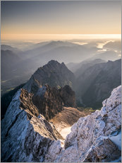View over the Alps from Zugspitze